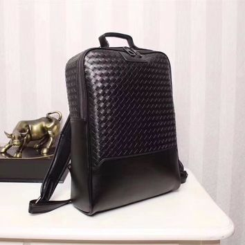 BV BOTTEGA VENETA LEATHER CASUAL BACKPACK BAG