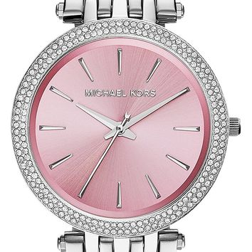 Michael Kors Women's Darci Watch, Icy Pink, One Size