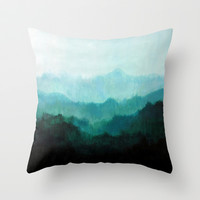 Mists No. 2 Throw Pillow by Prelude Posters
