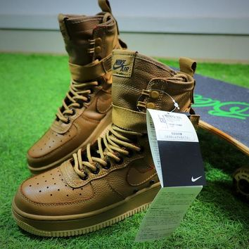 Nike Special Forces Air Force 1 SF AF1 Boots Khaki Shoes Women Sneaker - Best Online Sale