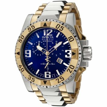 Invicta 6261 Men's Reserve Excursion Blue Dial Chronograph Two Tone Stainless Steel Dive Watch