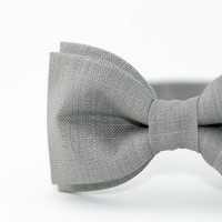 Bow Tie by BartekDesign Linen Gray Wedding