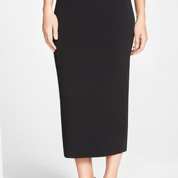 Women's Eileen Fisher Midi Length Wool Knit Pencil Skirt,