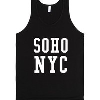 Soho Nyc Tank Top Dark-Unisex Black Tank