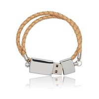 Leather Woven USB Bracelet by Nordvic
