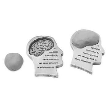 MIND STRETCHED PAPERWEIGHT | Art Eraser, Pewter, Oliver Wendell Holmes. | UncommonGoods