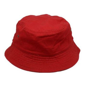 New For Women's Men's Bucket Hat Cap Fishing Boonie Brim visor Sun Safari Red