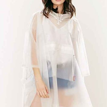 Hunter Clear Rain Poncho- White