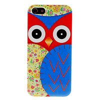 Big Owl Pattern Hard Case for iPhone 5