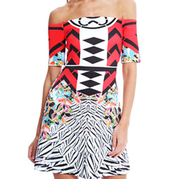 Clover Canyon Toucan Red Dress