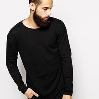 ASOS Longline Sweater with Scoop Neck