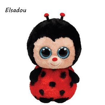 Elsadou Ty Beanie Boos Stuffed & Plush Animals Ladybug Doll Toys For Girls