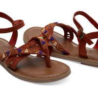 ROOIBOS TEA SUEDE BEADED WOMEN'S LEXIE SANDALS
