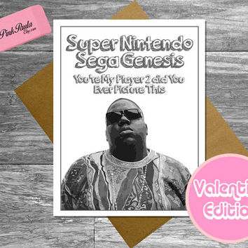 Notorious BIG Valentine's Day Card. card for boyfriend. funny birthday card. funny love card. funny valentine card. valentine for him sega