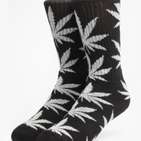HUF Plantlife Crew Socks - Black/Grey Heather