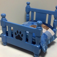 Adorable hand crafted wooden Dog Bed