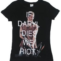 Walking Dead Women's If Daryl Dies We Riot - Sheer T-shirt