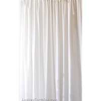 20 ft long curtain panels | 240 inch high curtains | White Drapes | White Velvet Curtains
