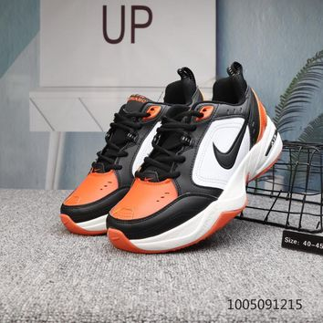 DCCK N534 Nike M2K Tekno Air Monarch Running Shoes Black Orange