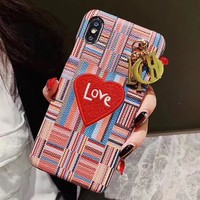 Dior Heart Fashion iPhone Phone Cover Case For iphone 6 6s 6plus 6s-plus 7 7plus 8 8plus iPhone X XR XS XS MAX