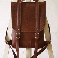 Chestnut Brown leather backpack rucksack / To order