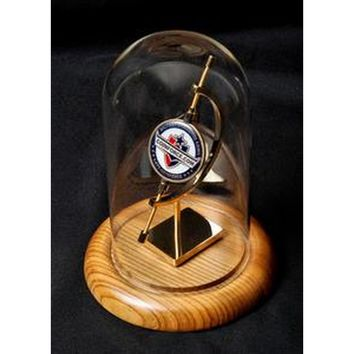 Medium Single Coin Display,Glass Dome Display Case Hand Made By Veterans