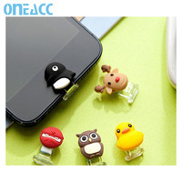 New USB Charging Port Dust Plug Cover + Cute Home Button Sticker for iPhone 5 5s 6 6s 6 plus