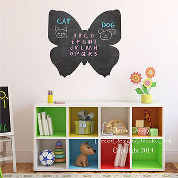 Butterfly Chalkboard Decal