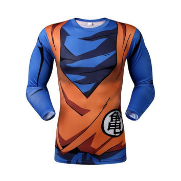 Goku 3d armor long sleeve shirt