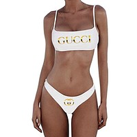 LV+Dior+GUCCI+Moschino+Fendi Two Piece Brazilian Bikini Cheeky Swimsuit