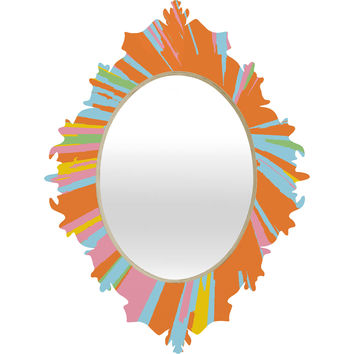 Rosie Brown Pin Wheel Baroque Mirror