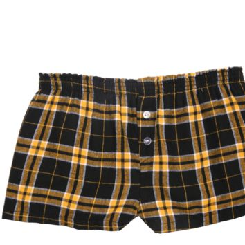 Boxercraft Black and Gold Flannel Bitty Boxer