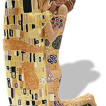 The Kiss Lovers Kissing by Gustav Klimt Statue Adaptation Parastone, Assorted Sizes