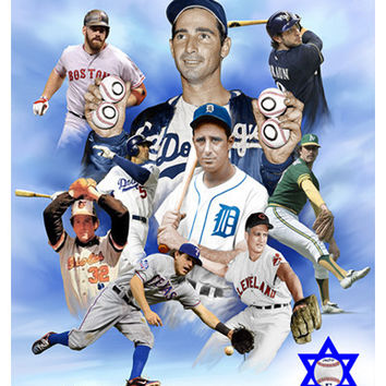 Top Jewish Major League Baseball Players Wishum Gregory Fine Art Print Poster