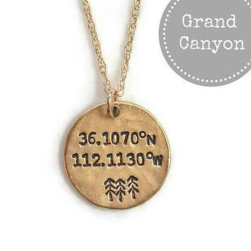 Grand Canyon Longitude Latitude Necklace