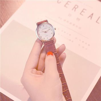 ulzzang Luxury Brand Women Watches Stainless Steel Watch Fashion Simple Stylish Ladies Wrist Watches relogio 4 Colors