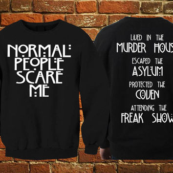 american horror story sweater unisex size front back print