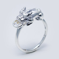 mythical wild animal 925 Sterling Silver ring , a perfect gift !