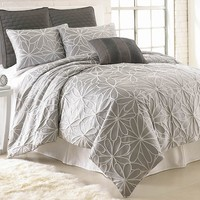 Kate 8-pc. Jacquard Comforter Set - Queen (Grey)