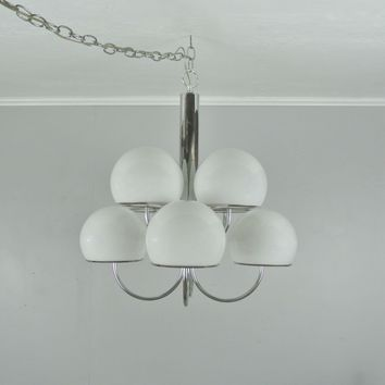 Vintage Lightolier Chrome Chandelier