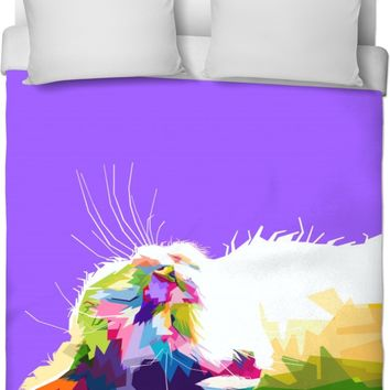 ROB Cat Sleep Duvet Cover