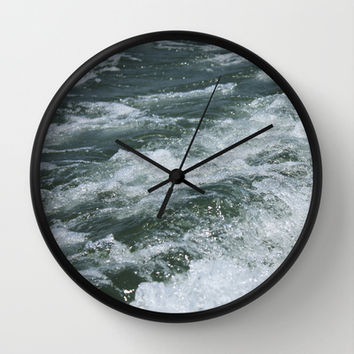 Ocean Waves Wall Clock by Kayleigh Rappaport