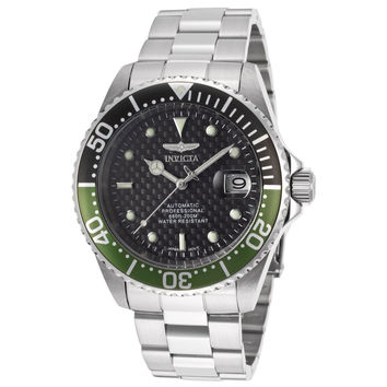 Invicta 15586 Men's Pro Diver Black & Green Bezel Black Dial Automatic Dive Watch