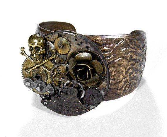 Steampunk Cuff Jewelry by edmdesigns  Industrial by edmdesigns