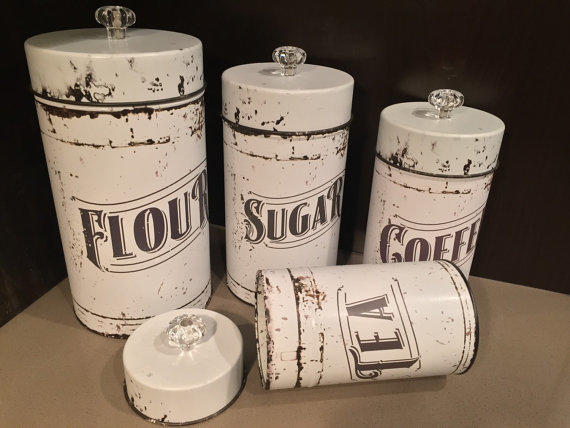 vintage kitchen canisters 4 piece set from everychicway on