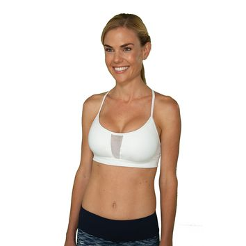 Little Minx White Sports Bra