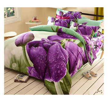 Cotton Active floral printing Quilt Duvet Sheet Cover Sets  Size 53