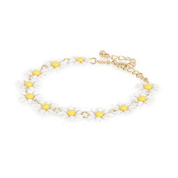 River Island Womens White daisy repeat bracelet