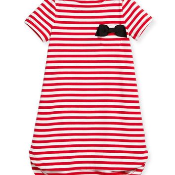 striped lena jersey dress, red/white,