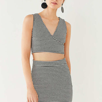 UO Houndstooth Wrap Two-Piece Set | Urban Outfitters
